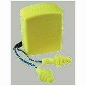 Lamellás, zsinóros, sárga füldugó műanyag tartódobozban, mosható
