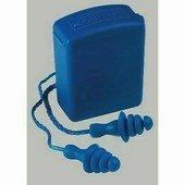 Lamellás, zsinóros, kék füldugó műanyag tartódobozban, mosható