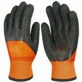 Bélelt PVC fluo narancs védőkesztyű, 25 cm, fekete Corel M 10