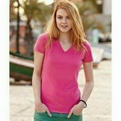 Fruit of the Loom Lady-Fit V-Neck T- V-NYAKÚ női póló