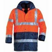 FLUO Jólláthatósági kabát PE 4/1 narancs/kék vízhatlan Oxford