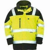TELEPORT sárga/fekete Softshell kabát, extra lélegző és vízálló