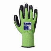 Zöld Cut 5 Nitrilhab vágásbiztos kesztyű zöld / fekete