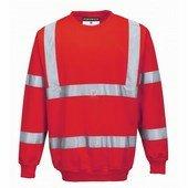 Jól láthatósági pulóver piros