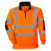 Jól láthatósági Rugby pulóver narancs
