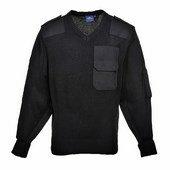 A NATO pulóver, 100% akril, pamut rátétek fekete