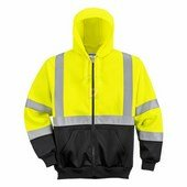 Hi-Vis kéttónusú kapucnis pulóver sárga / fekete