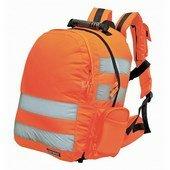 Jól láthatósági hátizsák, gyorskioldóval narancs