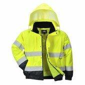 Hi-Vis 2 az 1-ben kabát sárga