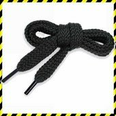Cipőfűző 90cm fekete