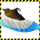 Csúszás biztos fehér cipővédő kék talppal 50 db/ doboz
