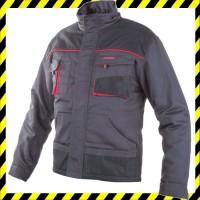 Classic szürke-piros kabát 483bc25cd4