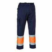 Jól láthatósági kéttónusú nadrág narancs / tengerész