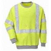 Lángálló, antisztatikus Hi-Vis pulóver sárga