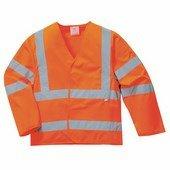 Jól láthatósági antisztatikus kabát - Lángálló narancs