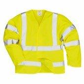 Jól láthatósági antisztatikus kabát - Lángálló sárga