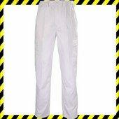 Factory fehér deréknadrág, gumibetét, biztonsági varrás, 6 zseb