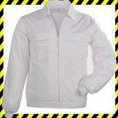 Factory fehér kabát, dzseki fazon, 4 zseb, 35% pamut