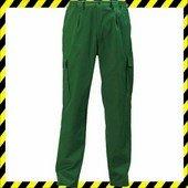 Factory deréknadrág, sötétzöld - gumibetétes, cipzáras nadrág