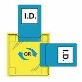 Dupla azonosítótartó - ragasztható (50 db) CLR