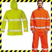 Fényvisszaverő vékony kabát, -GORDON- vízálló, cipzáros -NARANCS