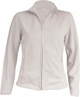 MAUREEN - LADIES MICRO FLEECE JACKET / fehér