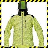 KNOXFIELD softshell dzseki jólláthatósági mintával -  sárga