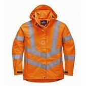 Női jól láthatósági lélegző kabát narancs