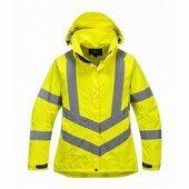 Női jól láthatósági lélegző kabát sárga
