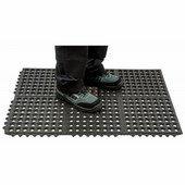 Erősített álláskönnyítő szőnyeg fekete