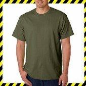 Gildan 5000 Military Green Zöld Póló- 100% pamut! S-5XL Méretig!