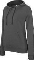 LADIES CONTRAST HOODED SWEATSHIRT dg/bl