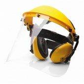 Arc és hallásvédő szett sárga