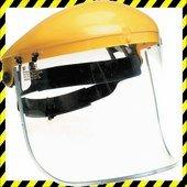 Polikarbonát arcvédő látómező, 195 x 430 mm (vastagsága 1mm)