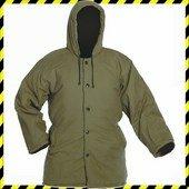 NORMA : Meleg pufajka kabát, flanel bélés, zöld
