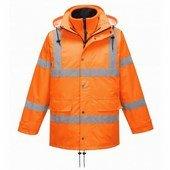 HiVis lélegző Traffic kabát (Interaktív) narancs
