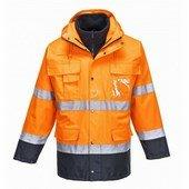 Hi-Vis Lite 3 az 1-ben kabát narancs / tengerész