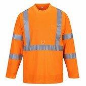 Hivis hosszú ujjú póló zsebbel narancs