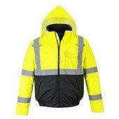 HiVis Essential Bomber kabát sárga / fekete