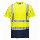 Kéttónusú pólóing  sárga/Kék