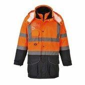 Jól láthatósági 7 az 1-ben kontraszt Traffic kabát narancs / tengerész