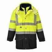 Jól láthatósági 7 az 1-ben kontraszt Traffic kabát  sárga/Kék