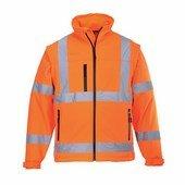 Jól láthatóságioftshell dzseki narancs