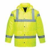 Jól láthatósági kabát sárga