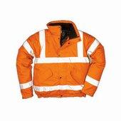 Jól láthatósági bomber dzseki narancs