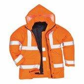 Jól láthatósági 4 az 1-ben kabát narancs