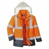 Jól láthatósági 4 az 1-ben Contrast Traffic kabát narancs / tengerész