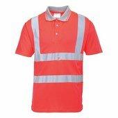 Jól láthatósági teniszpóló piros