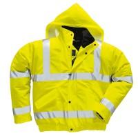 Jól láthatósági lélegző dzseki  sárga