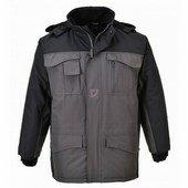 Ripstop kéttónusú kabát fekete / szürke